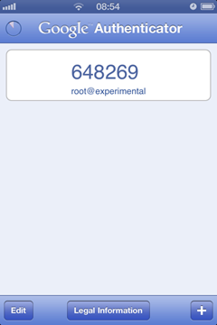 Google Authenticator on iPhone
